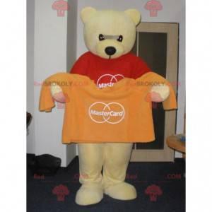 Velmi měkký a roztomilý žlutý medvídek maskot - Redbrokoly.com