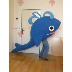 Obří a usměvavý maskot modrá velryba - Redbrokoly.com