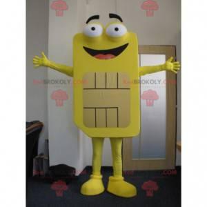 Obří žlutý maskot Sim karty. Telefonní maskot - Redbrokoly.com