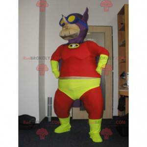 Sehr buntes Superhelden-Beerman-Maskottchen - Redbrokoly.com