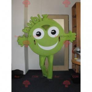 Maskotka Hubiz zielony okrągły i uśmiechnięty - Redbrokoly.com
