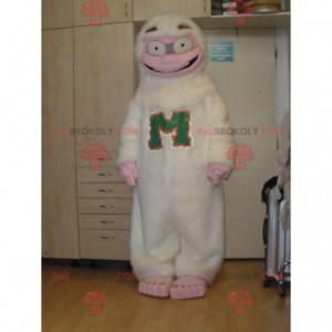 Very fun white and pink yeti mascot - Redbrokoly.com