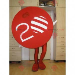 TV Nova mascot. Red circle mascot - Redbrokoly.com