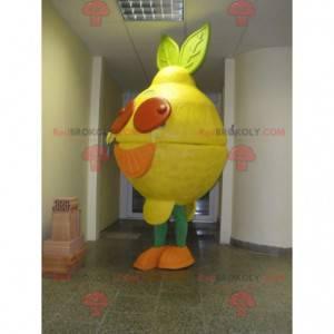Obří a barevné žluté citron maskot - Redbrokoly.com