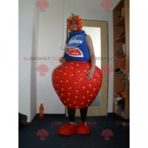 Jordbær yoghurt jordbær maskot. - Redbrokoly.com
