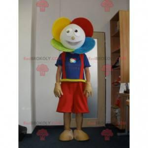 Bardzo uśmiechnięta maskotka kolorowy kwiat - Redbrokoly.com