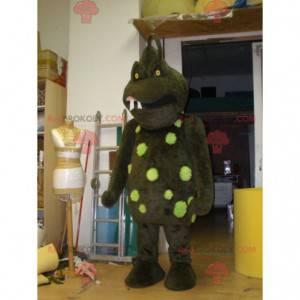 Terrifying brown and green monster mascot - Redbrokoly.com