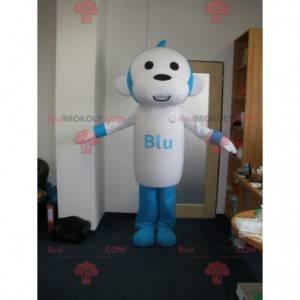 Niebiesko-biała małpa maskotka. Maskotka szympansa -