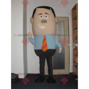 Obchodní muž maskot v obleku a kravatě - Redbrokoly.com