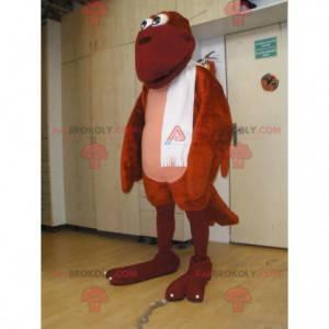 Großes rotes Vogelmaskottchen. Phoenix Maskottchen -