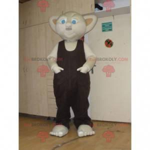 Beige gnome mascot with blue eyes - Redbrokoly.com