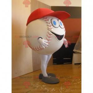 Giant white baseball mascot - Redbrokoly.com