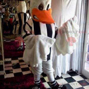 Maskot bílá kachna oblečená s fotbalovým dresem - Redbrokoly.com