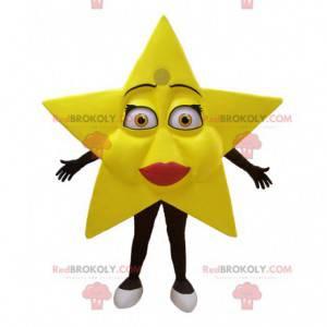 Very feminine giant yellow star mascot - Redbrokoly.com