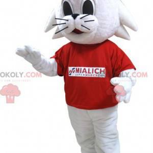 Mialich brand white rabbit cat mascot - Redbrokoly.com