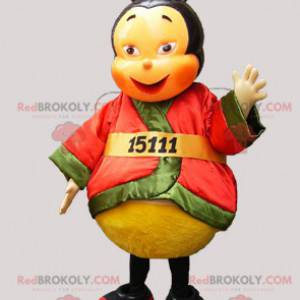 Asian bee mascot dressed in a colorful outfit - Redbrokoly.com