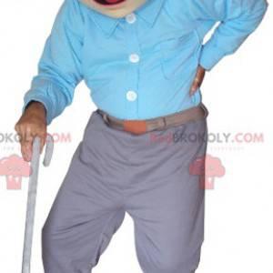 Starý muž maskot. Dědeček maskot - Redbrokoly.com