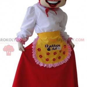 Housekeeper wife farmer mascot - Redbrokoly.com