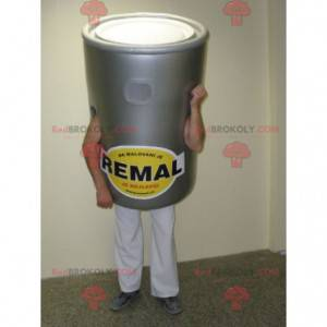 Giant gray paint pot mascot - Redbrokoly.com