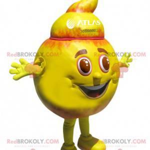 Pomarańczowy i żółty okrągły bałwan maskotka - Redbrokoly.com