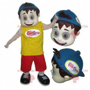 Dospívající chlapec maskot s víčkem - Redbrokoly.com