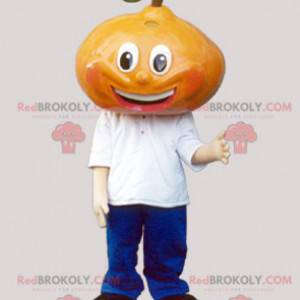 Giant pear mascot dressed in blue and white - Redbrokoly.com