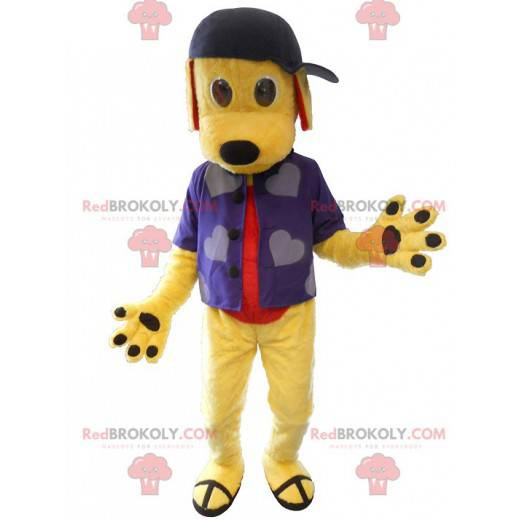 Young dog mascot dressed as a young - Redbrokoly.com