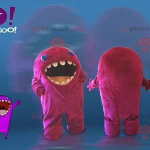 Pink monster mascot. Yahoo mascot - Redbrokoly.com