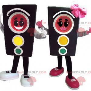 2 semafory maskují dívku a chlapce - Redbrokoly.com