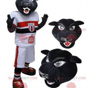 Černý panter tygr maskot ve sportovním oblečení - Redbrokoly.com