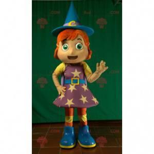 Redhead witch magician fairy mascot - Redbrokoly.com