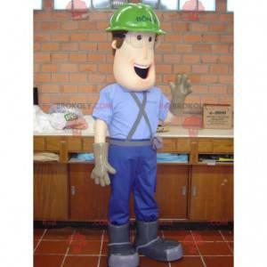 Carpenter worker mascot with a helmet - Redbrokoly.com