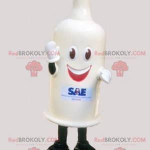 Mascote gigante do preservativo branco - Redbrokoly.com