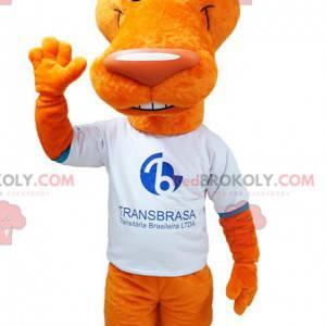 Oranžový vlk kojot maskot s velkýma ušima - Redbrokoly.com