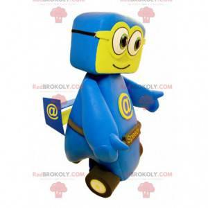 Blue and yellow car mascot. Speedy mascot - Redbrokoly.com