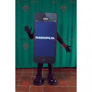 Giant black smartphone mascot. Phone mascot - Redbrokoly.com