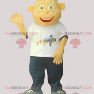 Very smiling young man teenage mascot - Redbrokoly.com