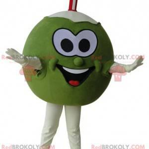 Zielona i biała olbrzymia maskotka kokosowa - Redbrokoly.com