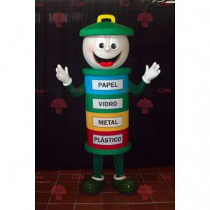 Colorful trash mascot. Dumpster mascot - Redbrokoly.com