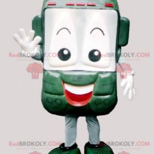 Grønn og smilende mobiltelefonmaskot - Redbrokoly.com