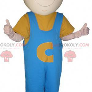 Mascot man worker with a helmet and overalls - Redbrokoly.com