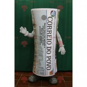 Obří srolovaný novinový maskot. Noviny - Redbrokoly.com