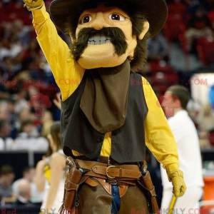 Cowboy-Maskottchen mit Schnurrbart - Redbrokoly.com