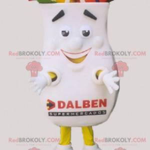 Mascot giant shopping bag white and funny - Redbrokoly.com