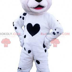 Biały i czarny pies maskotka. Maskotka Dalmacji - Redbrokoly.com