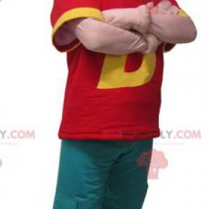 Maskot muž oblečený v barevné oblečení - Redbrokoly.com