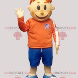 Zrzavý chlapec maskot ve sportovním oblečení - Redbrokoly.com
