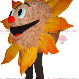 Sehr lächelndes riesiges Sonnenmaskottchen - Redbrokoly.com