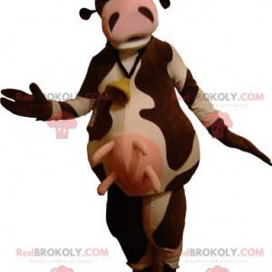 Very funny brown and white cow mascot - Redbrokoly.com