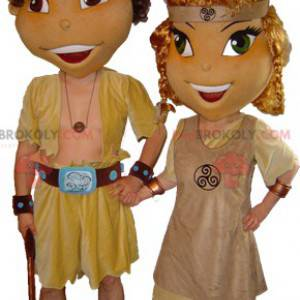 2 maskotki płci męskiej i żeńskiej Viking Celts - Redbrokoly.com
